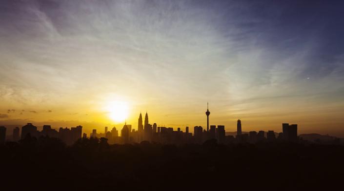 Kuala Lumpur City Skyline Time Lapse